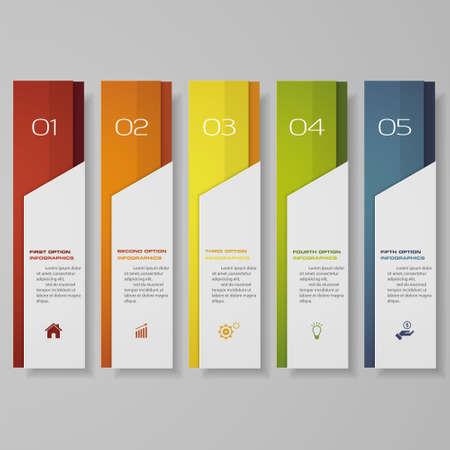 Illustration pour Design clean number banners template. - image libre de droit