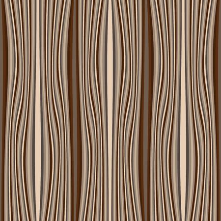 Illustration pour Timber textured vector seamless pattern. Wave lines wooden background. Repeat striped backdrop. Decorative patterned design. Ornate modern ornament. Vertical stripes, waves. Material. Endless texture - image libre de droit