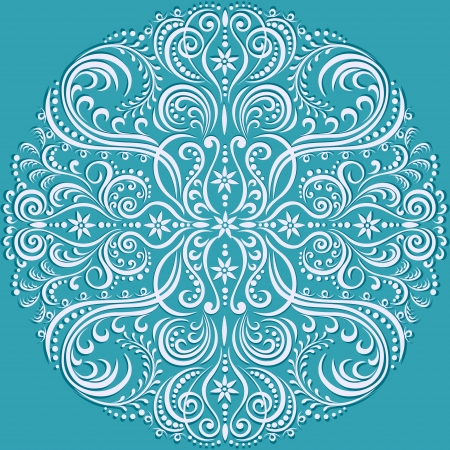 swirling floral pattern, abstract ornament