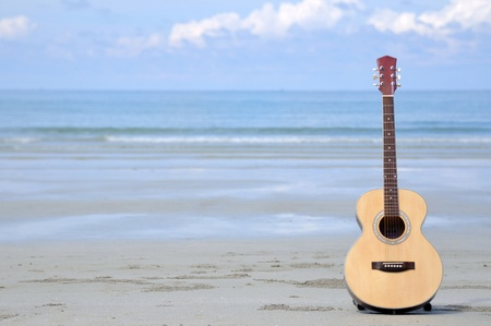 Guitar on the beach.