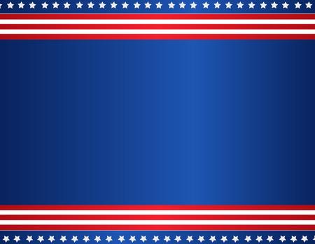 Stars and stripes USA patriotic background / border