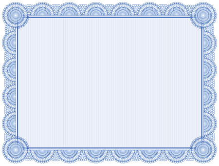 Illustration pour Blank certificate frame isolated on white - image libre de droit