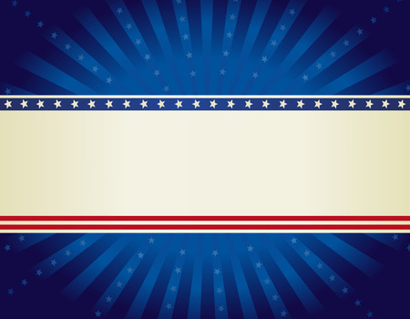 USA patriotic 4 th of july background design wth stars and stripes with starburst