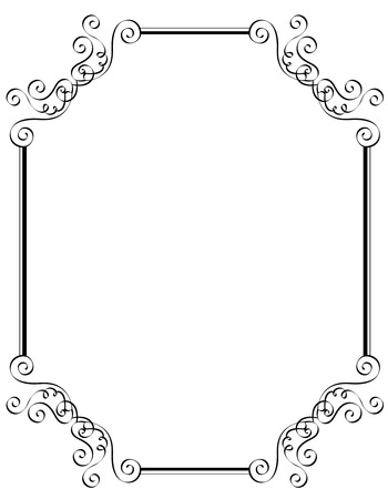 Black and white ornamental border / frame specially for wedding / party invitation cards