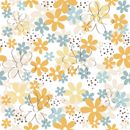 Illustration for Flower / floral seamless pattern - Royalty Free Image