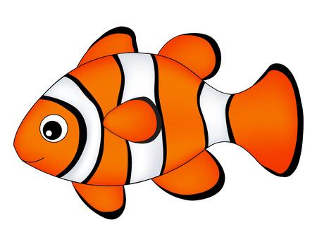 Illustration pour Reef fish / clown fish fish isolated on white background - image libre de droit