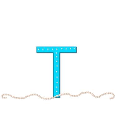 Photo pour T, in the alphabet set &quot,Butterfly Bling&quot, - image libre de droit