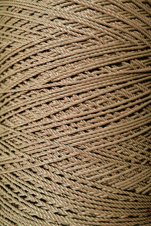 Close up brown rope texture