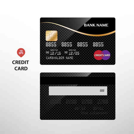 Templates of credit cards design with a polygon background, Isolated