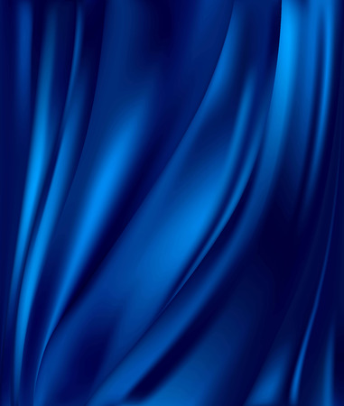 Illustration for abstract background luxury blue cloth or liquid wave or wavy folds of grunge silk texture satin velvet material or luxurious background or elegant wallpaper - Royalty Free Image