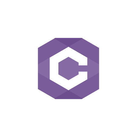 Smart icon / logo with a graphic representation of letter C