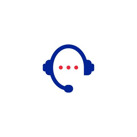 Vector Graphic Illustration Of A Telephone Headset Icon With A Chat Element Royalty Free Vector Graphics
