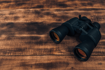 Photo for Overhead view of travel equipment for a backpacking trip on wooden floor.  Time to travel concept. - Royalty Free Image