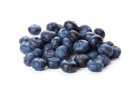 Photo pour Set of tasty ripe blueberries on white background - image libre de droit