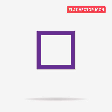 Square icon. Vector concept illustration for design.