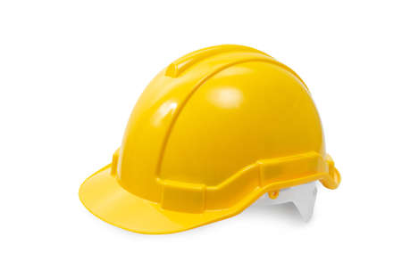 Photo pour construction hard hat - safety helmet used in workplace environments such as industrial or construction sites to protect head from injury due to falling objects, impact with other objects and electric shock - image libre de droit