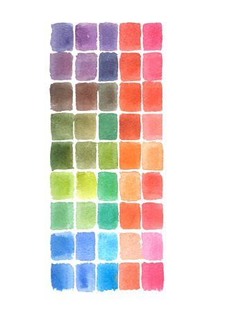 Photo pour Watercolor Abstract hand drawing square colors - image libre de droit