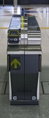 a train ticket gate