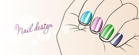 Fashion Nails_Illustration of nail design
