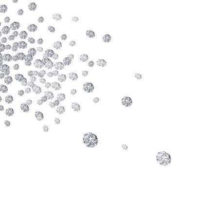falling diamonds on white background