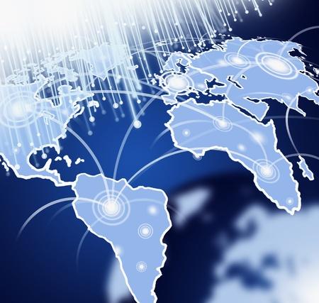 Globe with Fiber Optics in space
