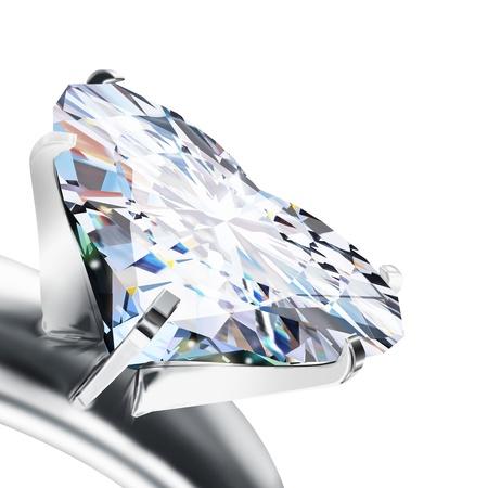 brilliant cut heart diamond ring