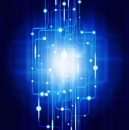 Photo pour abstract circuit board ,lighting effect ,technology background - image libre de droit