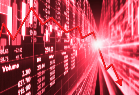 stock market concept and background ,crisis