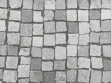Photo for Road from paving stone, texture stones, background of old stones. Old pavement. - Royalty Free Image