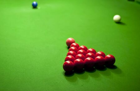 green snooker table