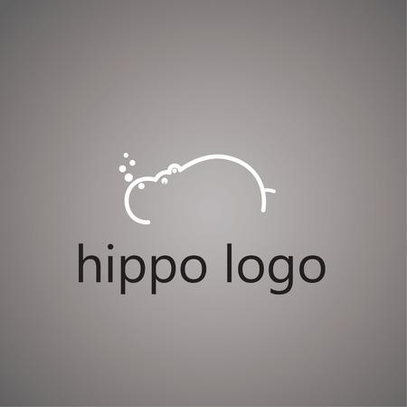 Ilustración de hippo logo on background - Imagen libre de derechos