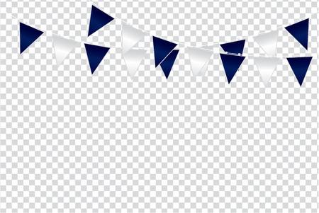 Ilustración de Triangular flag color ideas design vector illustration on  transparent background - Imagen libre de derechos