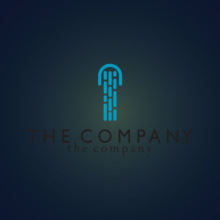 Illustration pour Jellyfish logo vector illustration on background - image libre de droit