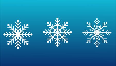 Illustration for Snowflakes set on isolated blue - Royalty Free Image