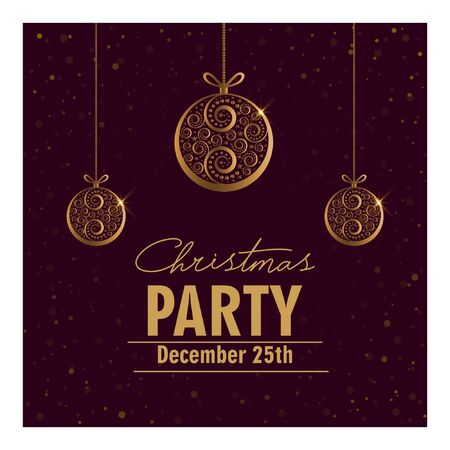 Illustration for Christmas party invitation card. - Royalty Free Image