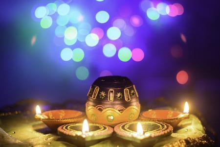 Indian Festival Diwali Oil Lamp Decoration