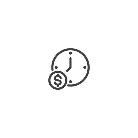 Illustration pour Time is money icon, work time icon - image libre de droit