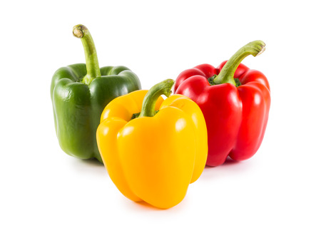 Sweet bell pepper (capsicum) isolated on white