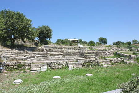 Ancient city of Troy Ruins at Canakkale, Turkey.