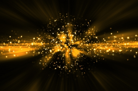 abstract golden star background