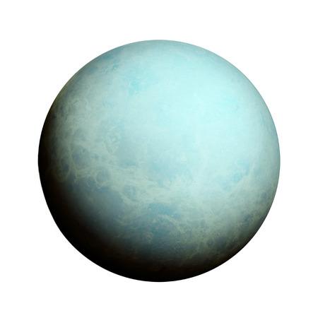 Photo for Solar System - Uranus. Isolated planet on white background. - Royalty Free Image