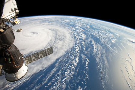 Photo for Hurricane Harvey, seen fom the International Space Station. Elements of this image are furnished by NASA - Royalty Free Image