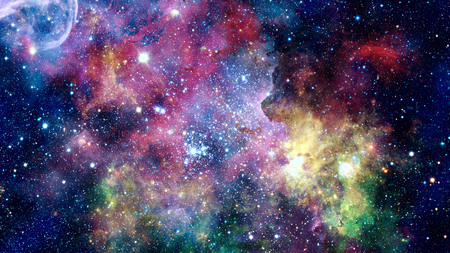 Foto de Colorful nebulas and stars in space. Elements of this image furnished. - Imagen libre de derechos