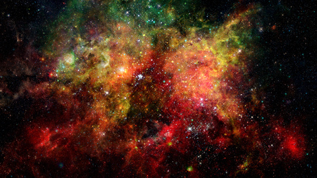 Photo for Landscape of star clusters, one million years old. - Royalty Free Image