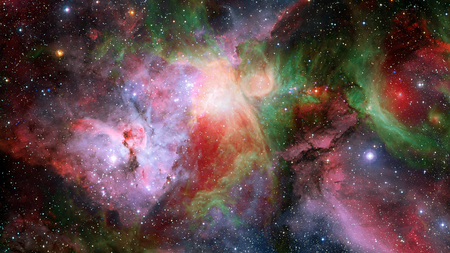 Photo for Abstract scientific background - galaxy and nebula in space. - Royalty Free Image