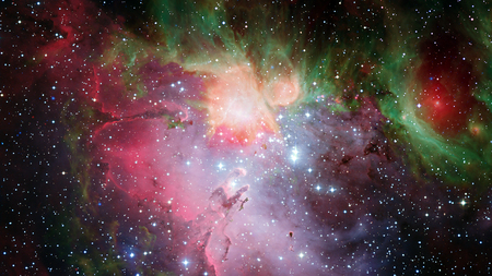 Photo for Awesome beautiful nebula somewhere in outer space. - Royalty Free Image