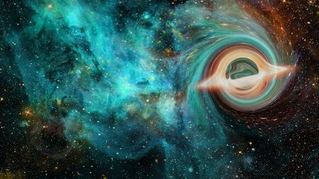 Photo for Artistic Representation of a cosmic Black Hole. - Royalty Free Image