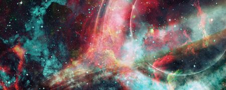 Photo for Simulation of a big black hole in the dark space. - Royalty Free Image