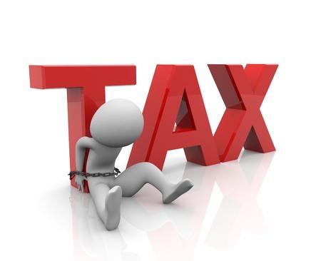 3d render of taxes burden concept