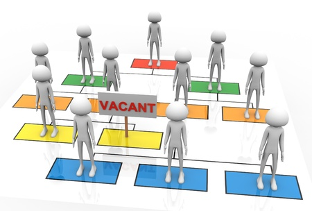 Photo for 3d render of vacant position in the business organization - Royalty Free Image